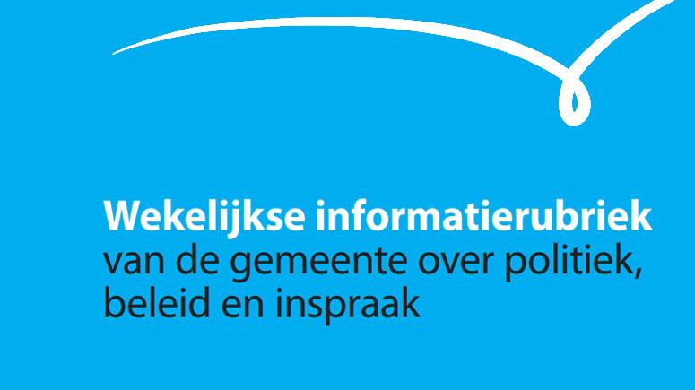 Logo wekelijkse informatierubriek gemeente Schouwen-Duiveland