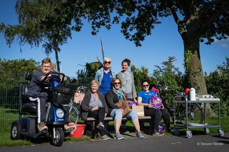 Wim Dorst bij de viswedstrijd tijdens de laatste editie van Nieuwerkerk Bruist!