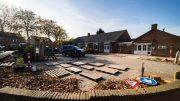 Werkzaamheden plein bij dorpshuis