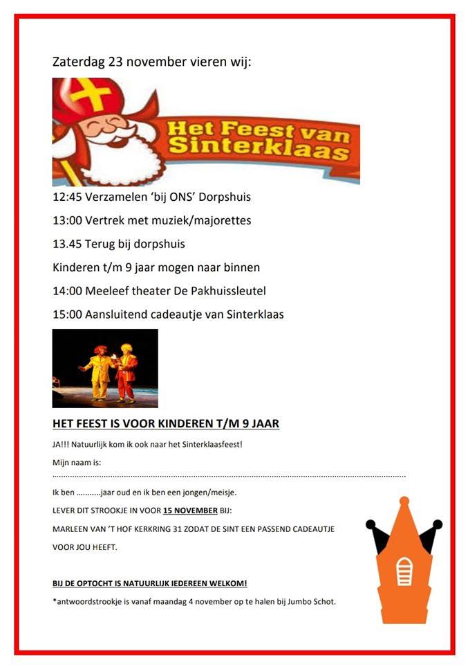 Flyer Sinterklaasfeest 2019