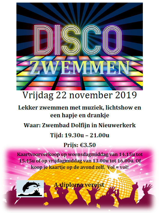 Flyer discozwemmen 22 november 2019