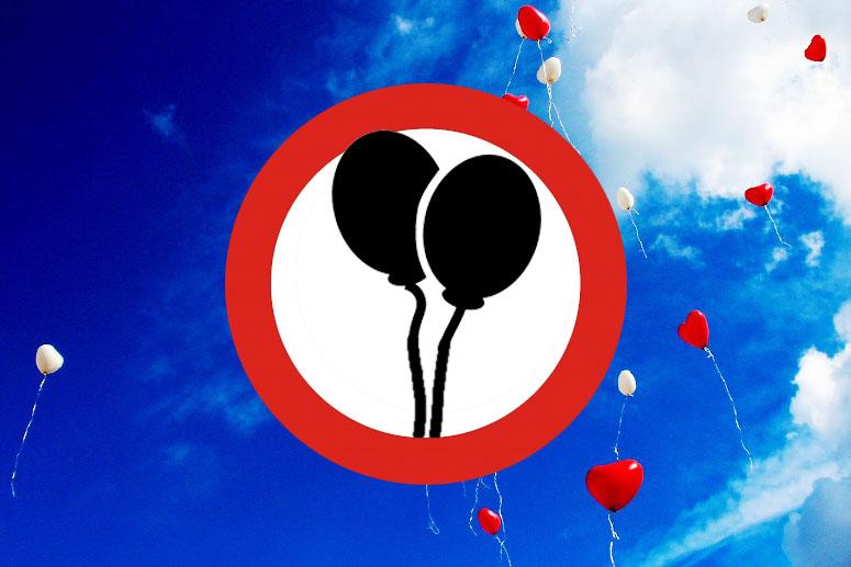 Ballonnen aan de lijn
