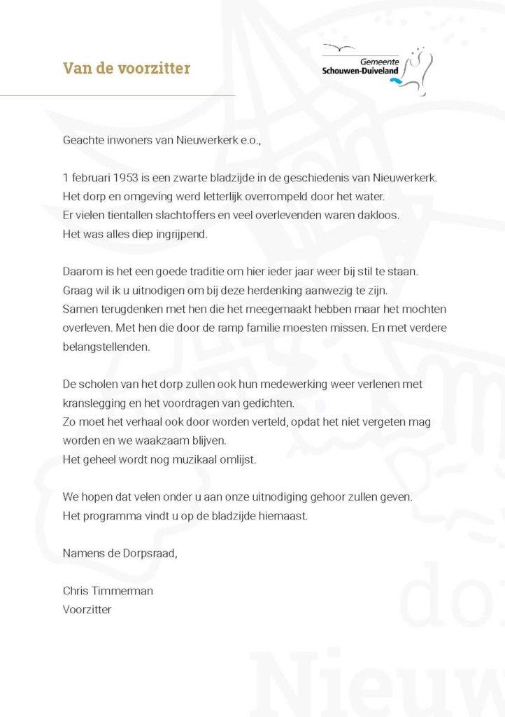 Uitnodiging herdenking watersnoodramp - pagina 2